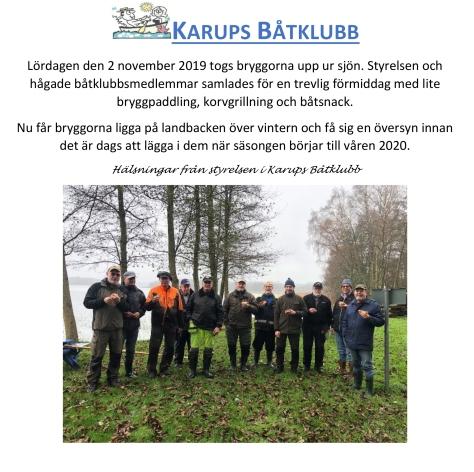 Karups Båtklubb - Bryggupptagning bild till hemsidan